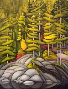 Canadian Painters, Canadian Artists, Abstract Landscape, Landscape Paintings, Landscapes, Marker Art, Stained Glass Art, Artist At Work, Contemporary Artists