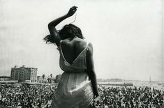 Stock had front row seats to the Woodstock generation of the late At Venice Beach Rock festival, in California, a concertgoer leapt on stage in front of the photographer, leading to this image Dennis Stock/Magnum Photos Magnum Photos, Venice Beach, Gjon Mili, Woodstock Festival, James Dean, Rock Club, Dennis Stock, Sugarhigh Lovestoned, Francis Picabia