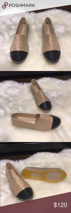 Black tan loafers New black tan loafers. They don't come with box only dust bag.  True to the size. Please ask any question before buying CHANEL Shoes Flats & Loafers