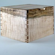 Keepsake Box of Wavy Maple and Birdseye Maple by JMCraftworks