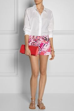 Emilio Pucci|Printed stretch-cotton shorts  $595