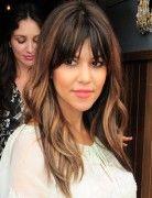 Kourtney Kardashian Hairstyles –Long Straight Hair with Bangs 2014