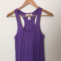 Purple Dress Small Purple mid length Jack racer back dress Size small with button down accents shown in pictures. Great condition! Dresses