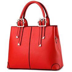 Women Leather Top Handle Zipper Closure Handbags
