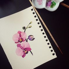 #orchid #sashaunisex #watercolor ✨✨