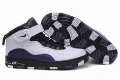 Air Jordan 10 (X) \\u0026amp; Air Force Mix White Black Dark Blue