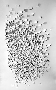 Paper artist Sachin Tekade deconstructed architecture and patterns created as a consequence of seismic activity.