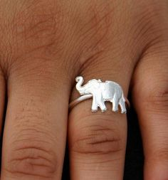 Sterling Silver Elephant Ring.. The trunk being up means good luck!