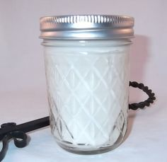Raspberry Sangria  Soy Mason Jar Candle by oceanbreezeboutique