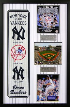 New York Yankees Heritage Wall Art. Perfect decor for a man cave, basement or office! Great gift for the man in your life.