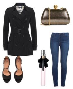 """""""Untitled #8871"""" by ohnadine on Polyvore featuring Paige Denim, Halston Heritage, Burberry and Yves Saint Laurent"""
