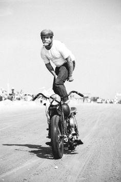 Mel Stultz of Oiler's Car Club surfing at The Race of Gentlemen... #motorcycle #motorbike