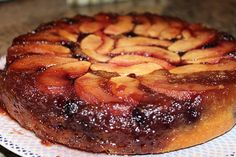 Upside-down apple blackberry cake. Easy recipe, delicious results!