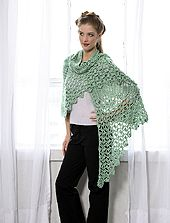 Free Crochet Pattern Celtic Knot Shawl to Crochet (front)