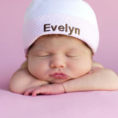 That's My NAME Hat! Personalized Organic Newborn GIRL Hospital Hat