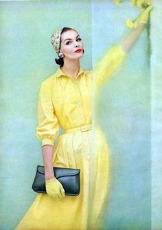 vintage vogue--blue and yellow, always perfect.