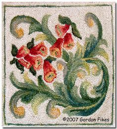 Little Hooked Rug by Penny Sanford Porcelains, via Flickr