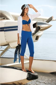 This Fourth of July weekend, channel your inner Bond Girl with diving inspired beachwear from Lauren