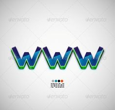 WWW Internet Vector Background
