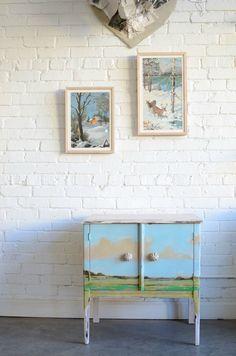 landscape painting on furniture. (girls room)