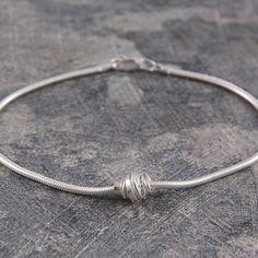 Coiled Silver Charm Bracelet #Otisjaxon #Jewellery
