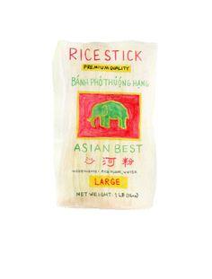 Bâton de nouilles vietnamiennes de riz / / Original Illustration / / Print de qualité d'archivage