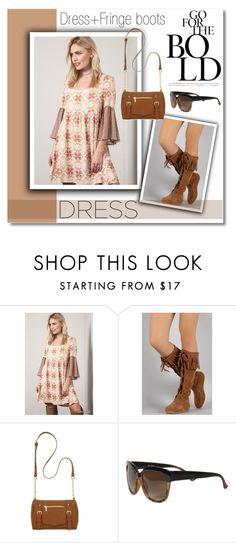 """""""New Trend: Bell-Sleeve Dresses"""" by knittedbelleboutique ❤ liked on Polyvore featuring Umgee, New Directions, Trio Eyewear, women's clothing, women, female, woman, misses, juniors and contestentry"""