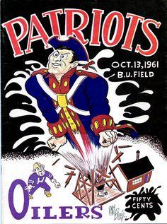 AFL game program (Houston Oilers at Boston Patriots — October 13, 1961)