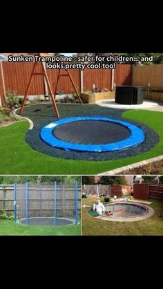 Sunken trampoline. Have to have this