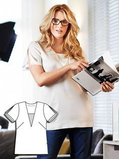 Plus Size Slit Sleeve Blouse – Sewing Blog | BurdaStyle.com