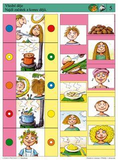 Soubor Logico Piccolo - Obsahové vnímání Příběhy v obrázcích - Soubor Logico Piccolo - Obsahové vnímání Určeno dětem od 5 - 8 let Soubor obsahuje 16 různých karet: * Předtím – potom – Sequencing Cards, Brain Activities, Preschool Math, Speech Therapy, Perception, Art Lessons, Playroom, Worksheets, Teaching