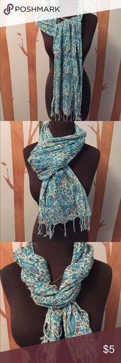 Sacred Threads scarf 100% cotton scarf by Sacred Threads Has some flaws as shown in pictures but still pretty You can tie it to hide these easily Sacred Threads Accessories Scarves & Wraps