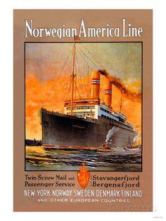 Norwegian-America Cruise Line Art Print