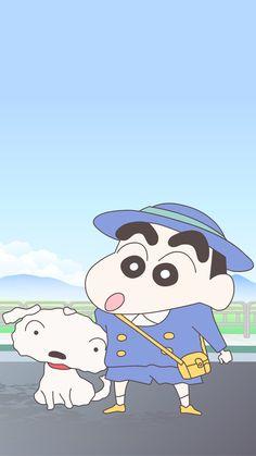 Sinchan Wallpaper, Cartoon Wallpaper Iphone, Cellphone Wallpaper, Sinchan Cartoon, Crayon Shin Chan, Room Stickers, Cute Little Boys, Bare Bears, Korean Art