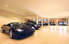 Petrol heads will drool over this garage with space for six supercars. There are also six bedrooms and six bathrooms in the 25,000sq ft house. Other features include a state-of-the-art home cinema, a wine cellar and an indoor swimming pool. The property is in a secure gated community and has far-reaching views across both sea and mountains. (Majorca, Spain)