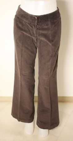BODEN LADIES BROWN CORDUROY TROUSERS-SIZE 8L-USED-EXCELLENT CONDITION-VERY CHIC