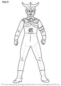 Coloring Pages See More Step By How To Draw An Ultraman Leo DrawingTutorials101