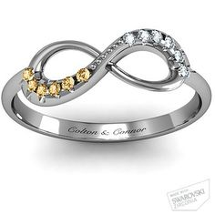 Infinity Mother's Ring - November & April - Colton & Connor :)
