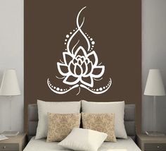 Wall Decals Yoga Lotus Indian Buddha Decal Vinyl Sticker Home Decor MS625