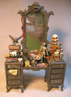 The Haunted Dollhouse - Patricia Paul Studio