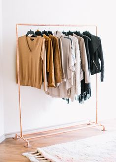 Copper Clothing Rack // LivvyLand Home Office