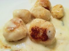 GD! Gnocchi in a Gorgonzola Sauce Topped with Fried Mushrooms | Recipe ...