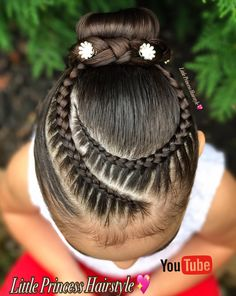 Peinados Little Girl Braids, Braids For Kids, Girls Braids, Baby Girl Hairstyles, Work Hairstyles, Braided Hairstyles, Curly Hair Styles, Natural Hair Styles, Competition Hair