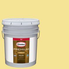 Glidden Premium 5-gal. #HDGG03 Meadow Flower Yellow Flat Latex Exterior Paint