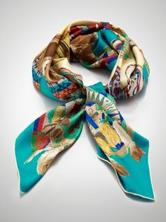 Ralph Lauren Moccasin Print Silk Scarf  I really do need this