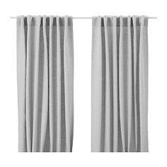AINA Curtains, 1 pair, gray - 145x250 cm - IKEA