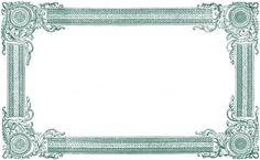 1828 Frame - also in blue, purple and black! ~ The Graphics Fairy: