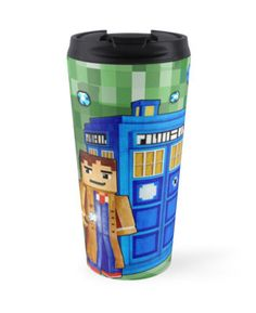 8bit Blue Phone box Travel Mugs #mugs #travelmugs #tardis #doctorwho #police #publiccallbox #phonebooth #payphone #davidtennant #petercapaldi #12thdoctor #10thdoctor #11thdoctor #vangogh #minecraft #8bit #cube #lego #games #sandbox #creeper #mojang