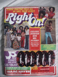 right on magazine 1970   Soul Train Gang on Right On Magazine Covers