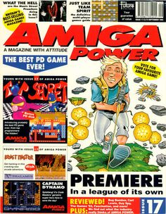 Amiga Power Issue 17 Magazines, Comic Books, Comics, My Love, Reading, Games, Journals, Reading Books, Cartoons